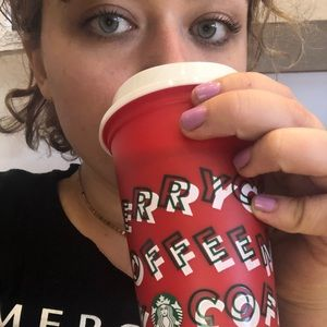 Red Starbucks holiday cup